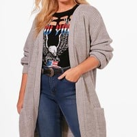 Plus Boyfriend Knitted Cardigan | Boohoo