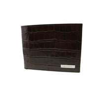 Etro Mens Patent Leather Embossed Bifold Wallet