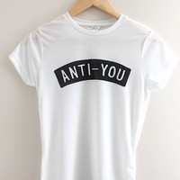 Anti-You Graphic Junior's Fitted Tee