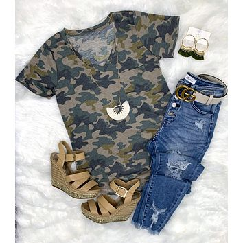 Casual in Camo Top - Light
