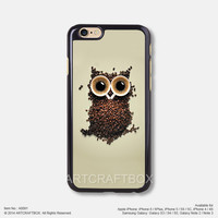 Coffee beans OWL iPhone 6 6Plus case iPhone 5s case iPhone 5C case iPhone 4 4S case 091