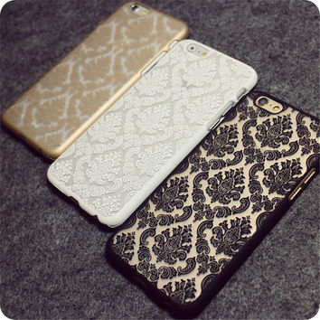 New Arrival Recommend Damask Vintage Fashion Flower Pattern Luxury Phone Case Back Cover for iPhone 5 5S SE 6 6S Plus 7 7Plus
