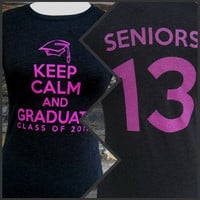 Class of 2013 T-Shirt -- Black T Keep Calm and Graduate