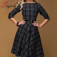 Sisjuly 2016 new women dresses casual elegant  for vintage Plaid dress evening Women's Clothing