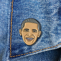 Barack Obama Enamel Pin, President, Soft Enamel Pin, Jewelry, Art, Gift (PIN71)