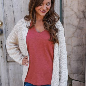 Forever Cozy Cardigan - Sand