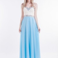 Beautifly Sweetheart Jewelry Embellished Long Evening Party Bridesmaid Ball Gown