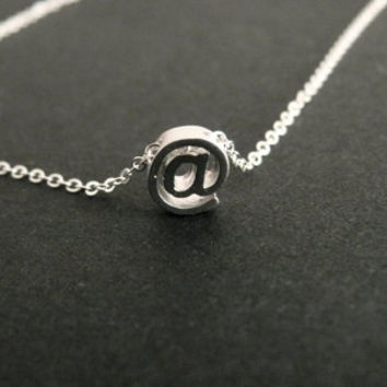 At Symbol @ Necklace Twitter Internet Jewelry