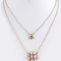 Shourouk Double Layer Necklace - Rose Gold, Gold, Silver