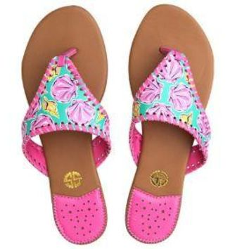 """Simply Southern """"Aquashell"""" Sandals"""