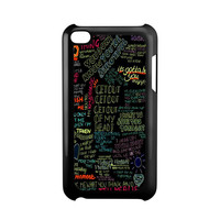 one direction song iPod Touch 4 Case
