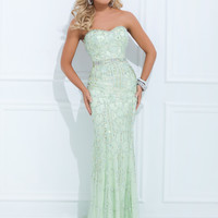 Strapless Beaded Formal Tony Bowls Evenings Prom Dress TBE11438