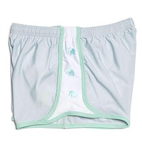 SarahBelle 93x Shorts in Grey with Green Elephants by Krass & Co.