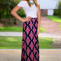 Another Love Maxi Skirt, Navy
