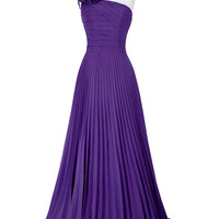 Royal Blue Emerald Green Purple Red Long Prom Dress 2016 Sexy One Shoulder Graduation Dress Grace Karin Party Prom Gowns