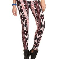 Cotton Tribal Printed Leggings by Charlotte Russe