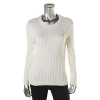 Karen Scott Womens KNit Textured Pullover Sweater