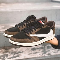 Nike Air Jordan 1 Retro Low OG SP Travis Scott Sneakers Shoes