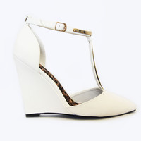 White Snake Point Toe Wedges