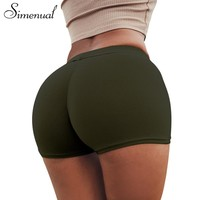 Simenual Ruching Push up summer shorts for women 2018 casual elastic sexy short feminino sportswear slim shorts fitness clothes