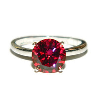 Engagement Ring, Strawberry Diamond Ring, Anniversary Ring, 3.75 Solitaire