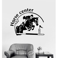 Wall Stickers Vinyl Decal Horse Center Rider Equestrian Racing Sport Unique Gift (ig260)