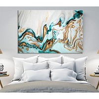 Abstract Wall Art Marble Canvas Print Abstract Watercolor Art Refined Wall Art Large Marble