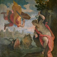 Perseus Rescuing Andromeda Giclee Print Poster by Veronese