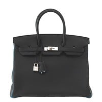 Hermes Birkin 35 Bag Black Turquoise Bi Color HSS Brushed Palladium