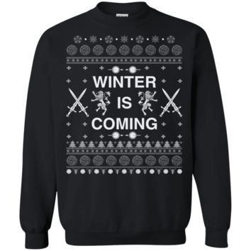 Gift for Game of Thrones Fans Ugly Christmas Sweater Winter is Coming sweatshirt