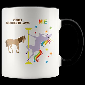 Mother in Law Gift for Mother in Law Mug Mother of the Groom Gift from Bride Mother in Law Wedding Gift Coffee Cup Pole Dancing Unicorn
