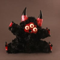 """Handmade Toy Psychedelic Little Lamb """"Fuzzy"""""""
