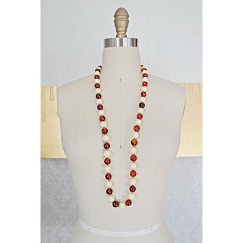Vintage Amber Beaded Necklace
