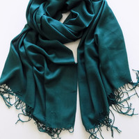 Green Pashmina,Pashmina Scarf Shawl,Oversize scarf,Bridesmaid Gift Women Fashion Accessories Scarves Gift Ideas For Her For Mom,Christmas