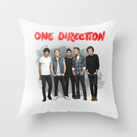 One Direction Watercolor Throw Pillow by dan ron eli