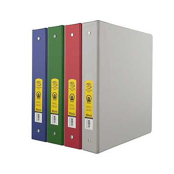 """Case of [24] 1.5"""" Assorted Color 3-Ring Binder with 2-Pockets"""
