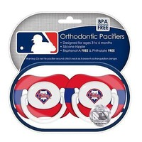 Philadelphia Phillies MLB (Baby Fanatic) Infant PACIFIER Set of 2 BPA Free