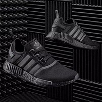 """""""Adidas"""" NMD Black Red Boost Women Men Fashion Leisure Running Sports Shoes"""