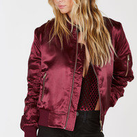 Bad Gal Satin Bomber