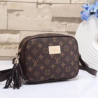 Louis Vuitton Women Leather Satchel Shoulder Bag Crossbody