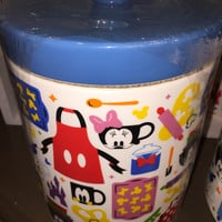 disney parks signature mickey & friends kitchen canister cookie jar ceramic new