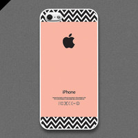 iPhone 5 Case  Chevron pattern on peach color  also by evoncase