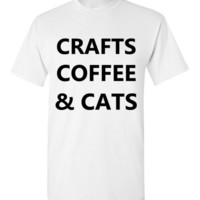 Crafts Coffee and Cats T-Shirt