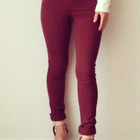 Red Pants Skinny Jeans
