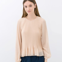 FINE PLEATED BLOUSE