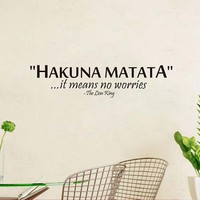 Hakuna Matata Lion King Quotes Removable Wall Stickers Mural Posters Home Decoration