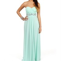 Macaria- Mint Beaded Prom Dress