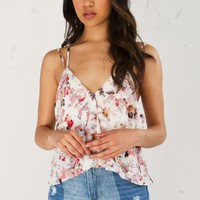Strappy Top in Pink Multi