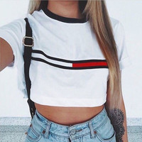 Trending Hot Sale Women's Fashion Crop Top Summer T-shirts