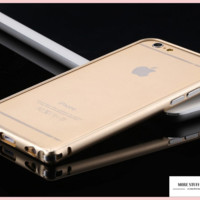 """Ultra Thin Capa Apple iPhone 6, 6s Bumper Luxury Aluminum Metal Cell Phone Protective Cases """" FREE SHIPPING """""""